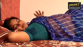 indian desi aunty unexpected romance with husband friend while her husband in deep sleep