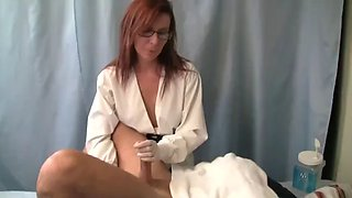 nurse milks patient's prostate with gloves and dildo