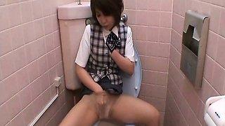 Hidden Camera Toilet Room Masturbation