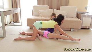 cute flexible girlfriends naked stretch