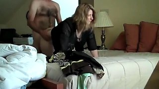 Cheating housewife fucks her neighbour while hubby is away