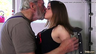 such an innocent petite young pussy for an old horny man