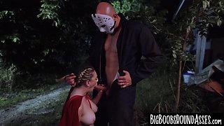 Innocent babe Kara Lee slammed by bad guys monster cock