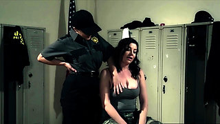 Female prison guard seduction by a pro lesbian slut