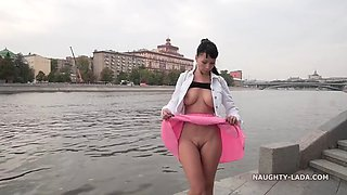 Naughty Russian MILF Exhibitionist 67