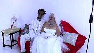 Mature bride sucks and rides bbc