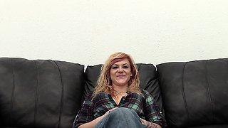 Punk Redhead Gives Handjob, Gets Anal, Swallows a Load