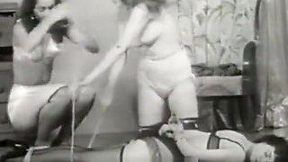 Beautiful Girls taken away a Cute Chick (1950s Vintage)