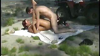 Amateur sex session on beach