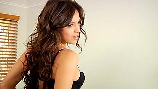 Sensational Nina James masturbates for the camera