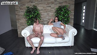 Nerdy slutty MILF Wendy Moon smiles bright while fucking missionary