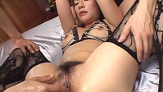 Bondage like lingerie gets Sara Nakumara a grand DP