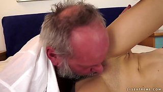 Spoiled Brunette Teen And Old Satyr - 18 Years Old