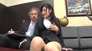 Quickie fucking in the office with shy Japanese secretary Seino Iroha