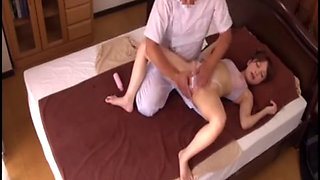 Japanese Wife Massage Fucked Home While Hubby Out