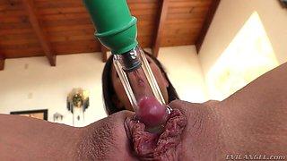 amara romani pumps her big clit with a pump @ buttman anal & oral antics