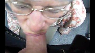 granny swallows cum like a good slut