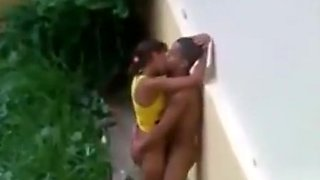 Outdoor voyeur sex with a Brazilian couple