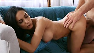 Ride on boat makes busty Latina chick in mood for hard fuck
