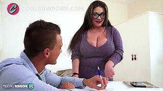 Busty teacher fucks her student