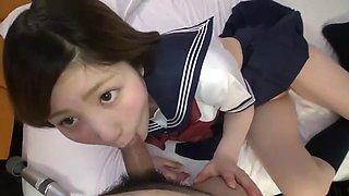 Japanese girl 14 school costume