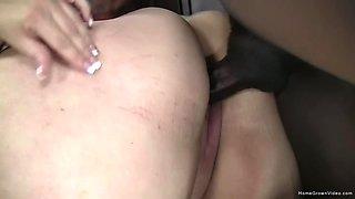 Busty BBW has her cunt stuffed by a big black dick