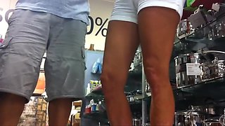 Mature booty shorts massive cameltoe