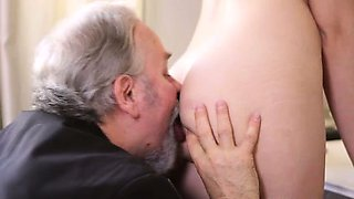 Rita's teacher is one horny old man, so she lets him lick
