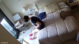 Hidden Camera, Cute Girl In Her Bedroom