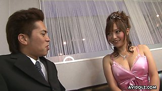 A bit plump Japanese hottie Yui Ayana gets hammered missionary style