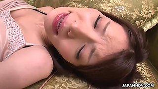 sensual asian anna kirishima plays trumpet and gets toyed to orgasms