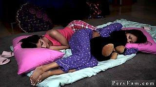 Cum on teen panties Slumber Party With Stepdad