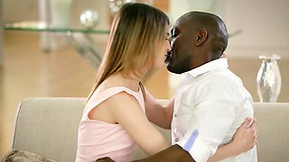 BLACKED First Interracial For Petite Teen Kristen Scott