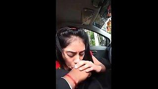 Indian Girl Blowjob in Car