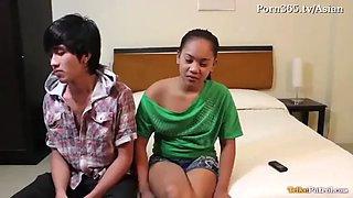 Cute filipina creampied on the casting camansi.com