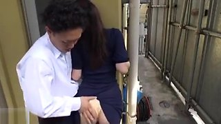 Japanese housewife gets addicted to molesters on bus