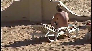 Spanien 1998 - voyeur am strand