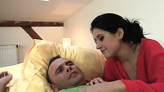 Cheating bitch takes hard thoat fucking and cock riding
