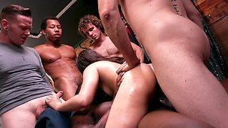 Kimber Woods gangbanged by interracial friends properly