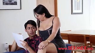 He blackmailed his dad in order to fuck stepmom