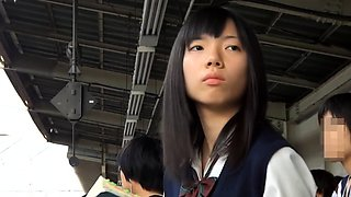 Adorable Asian schoolgirls in tight panties voyeur upskirt
