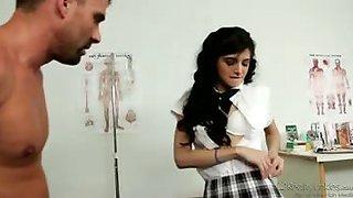 doctor huge cock cums to fuck innocent school girl\'s hot box