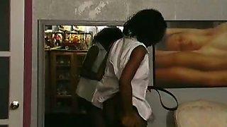 Ebony babe punished