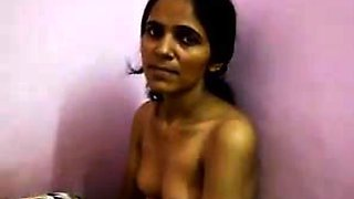 Cute Indian Aunty With Her Tits Out