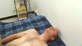 Big breasted French gal gets two jocks