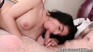 Tranny Alexa Scout Rimmed And Face Fucked Hard By Big Cock