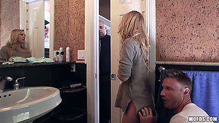 Cute blonde Bailey Brooke is having quickie with new boyfriend