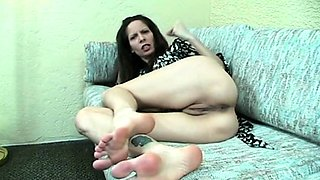 Angela Winters and CeCe Stone foot fuck and fingering