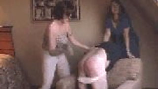 Wife spanks hubby with shoe in front of friend KOLI