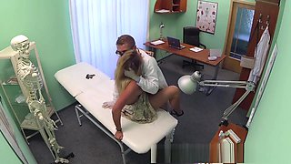 Doctor accepts sexy russians pussy as payment